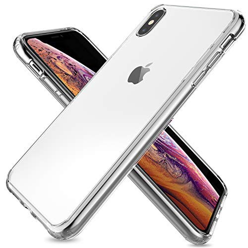 ProCase iPhone XS Max Case Clear, Slim Hybrid Crystal Clear Back Cover Protective Case for Apple iPhone XS Max 2018 Release –Clear
