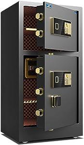 Cabinet Safes, Safes Anti-Fire Anti-Theft Biometric Fingerprint Security Safe Box Digital Keypad Safe Lock Box Cabinets Solid Steel Safe Strongbox