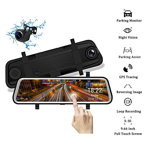 Mirror Dash Cam Backup Camera for Car Yuzes 9.66