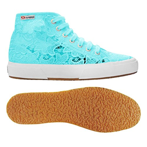 Donne Hi top Superga Trainer 2795 Acquamarina macramew Delle B18wOn