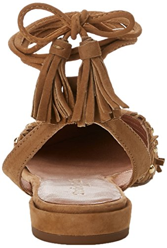 MIRALLES Camel 19733 Ankle Brown Women's Strap Sandals PEDRO with dqg6T4