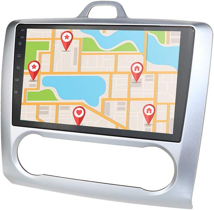 Navegación GPS con Radio de Coche Android 10 de 2 + 16GB con Pantalla táctil de 9 Pulgadas 1080P Compatible con Ford Focus Exi At 2004-2011 ...