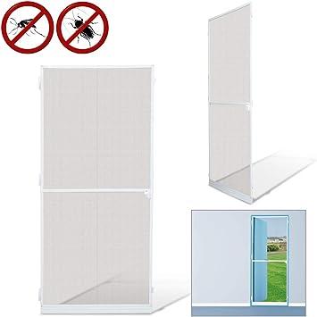 Mosquiteras para Mosquiteras puertas Mosquitera Pantalla Pantalla de Insecto protección insectos malla ventana blanco Aluminio (95x210CM): Amazon.es: Bricolaje y herramientas