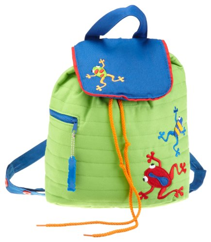 Frog Quilted (Stephen Joseph Little Boys' Quilted Dart Frog Backpack, Lime Green, One Size)