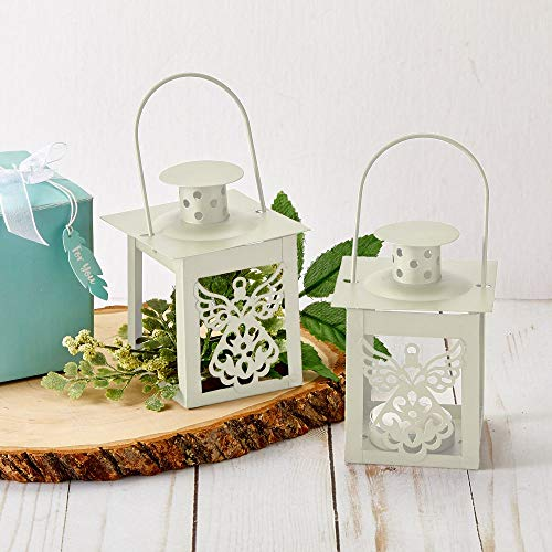 FavorOnline Ivory Angel Luminous Lantern Candles, 24
