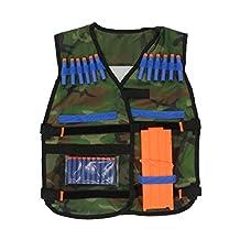 Adjustable Tactical Vest w/ Storage Pockets for Nerf N-Strike Elite Team Toy