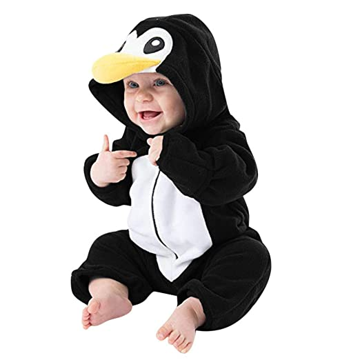ZHRUI Traje de bebé, Niño pequeño Unisex Lindo Pingüino de ...