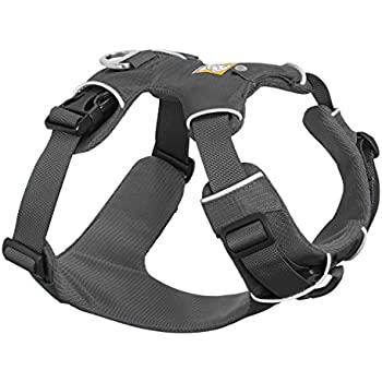 RUFFWEAR GRAY FRONT RANGE DOG HARNESS AND FLAT OUT LEASH COMBO ♦ ALL DAY TRAINING ADJUSTABLE ADVENTURE HARNESS AND LEASH ♦ ALL SIZES (XSmall)
