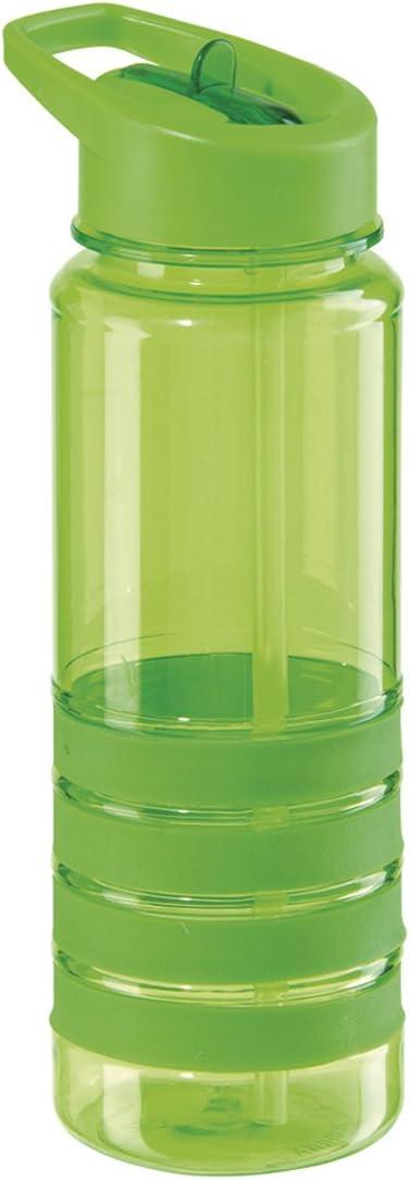 Tritan Bouteille D/'eau 750 ml Flip Paille Sport Hydratation athlètes Transparent Gris