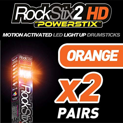 ❤ Rockstix 2 Hd Blue Bright Led Light Up Drumsticks W// Fade Effect Set Your Gig