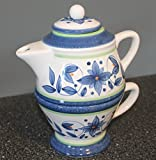 """Pfaltzgraff Orleans Individual Teapot & Lid with Cup 7 3/4"""" MINT Condition"""