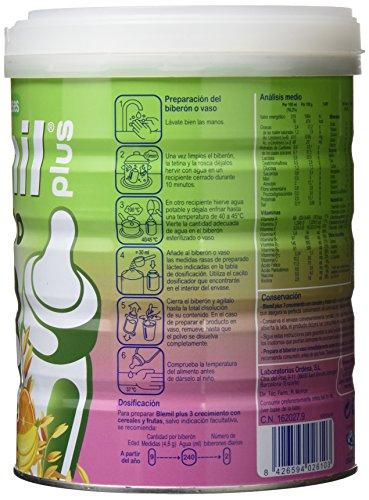 Blemil Plus Leche con Cereales y Frutas - 800 gr: Amazon.es: Alimentación y bebidas