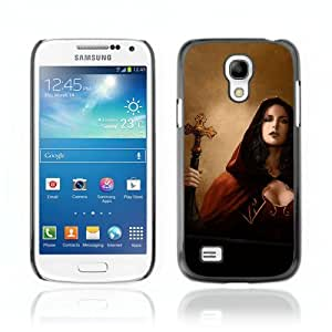 Designer Depo Hard Protection Case for Samsung Galaxy S4 Mini / Goth Woman Priest Vampire