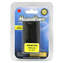 Maximal Power DB SON NP-F550 Replacement Battery for Sony Digita