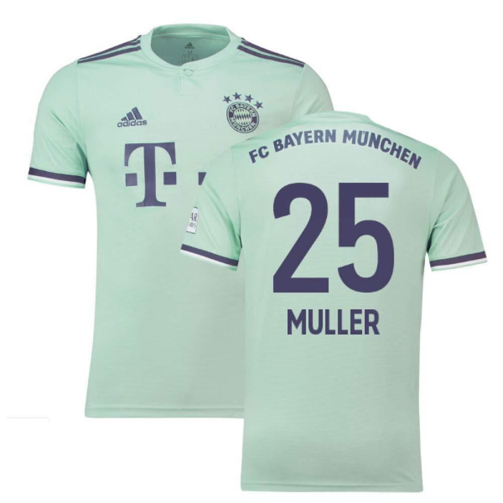 2018-19 Bayern Munich Away Football Soccer T-Shirt Trikot (Thomas Muller 25)