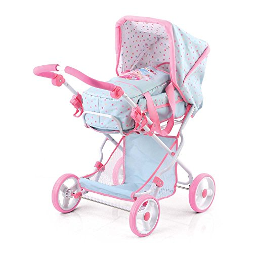 Hauck D86687 – Princess Mimi Combi Doll Stroller Light Blue
