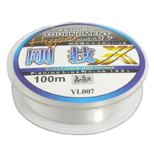 3.5# Clear Nylon Thread 0.30mm Dia 15Kg Fishing Line Spool 100M