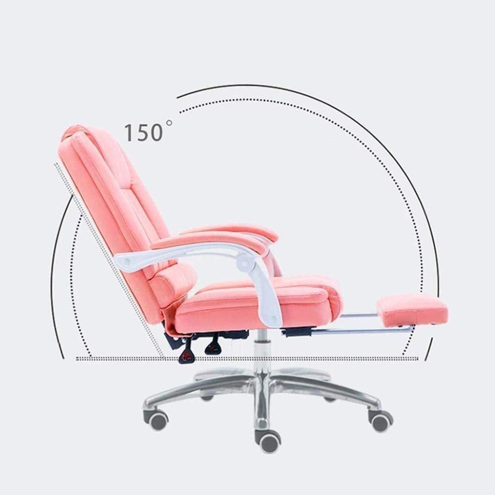 Skrivbordsstolar, kontorsstol spelstol ergonomisk hög rygg datorstol justerbar svängbar uppgift stol infällbar fotstöd fåtölj (färg: Grön) gRÖN