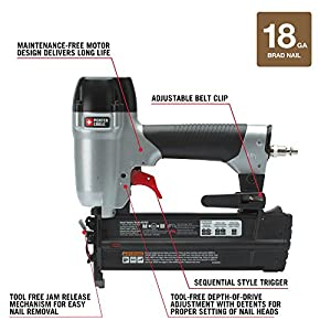 PORTER-CABLE BN200C 2-Inch 18GA Brad Nailer Kit by PORTER-CABLE