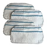 Think Crucial 4 Replacements for Black & Decker Microfiber Mop Pads Fit SMP20 Steam Mops, Washable & Reusable