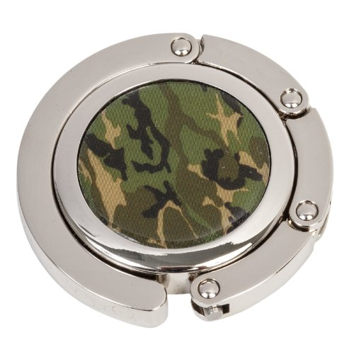 Handbag Magnet (Camouflage Print Fold-Up Purse Hook Hanger)