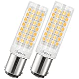 Bqhy Ba15d Double Contact Bayonet Base LED Light Bulbs 110 Volts 7 Watts 750lm Warm White 3000k T3/T4/C7/S6 LED Sewing Machine Replacement Bulb,Pack of 2