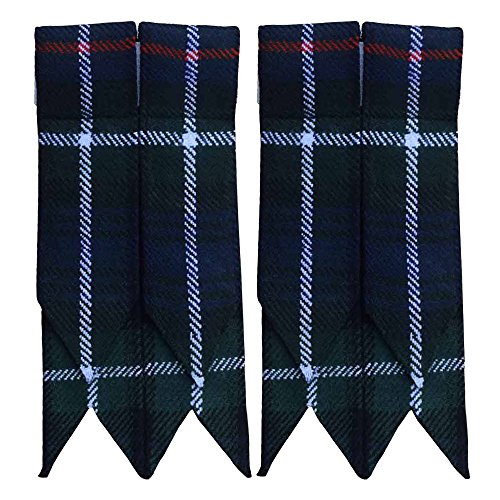 (Mackenzie Tartan Flash Kilt Hose/Sock Flashes)