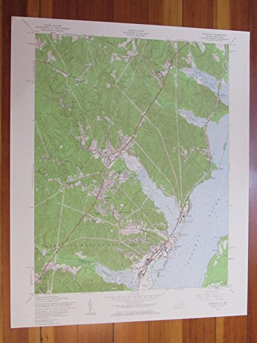 Quantico Virginia 1959 Original Vintage USGS Topo Map (Montclair In May)