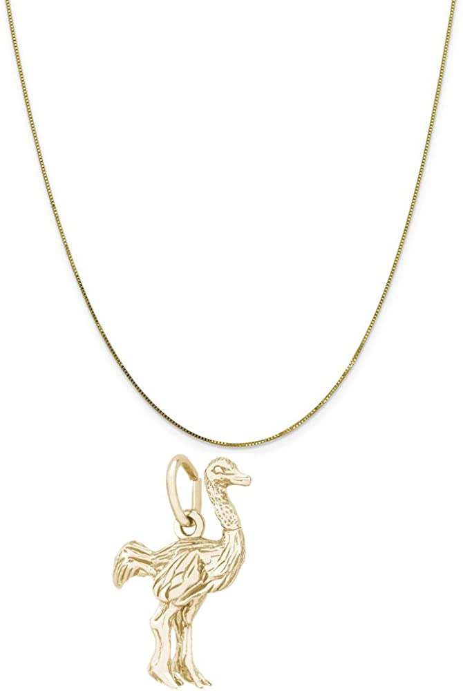 Charms for Bracelets and Necklaces Ostrich Charm