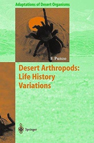 Desert Arthropods: Life History Variations (Adaptations of Desert