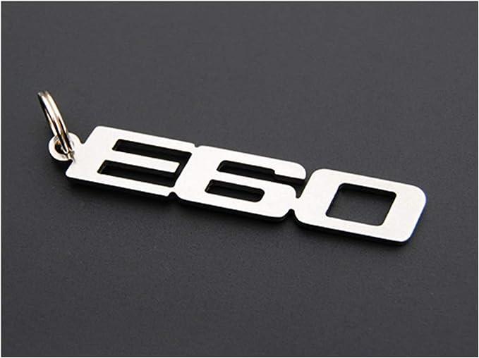 E60 Schlüsselanhänger Emblem Aus Edelstahl Hochwertig Auto