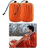 Zmoon Emergency Sleeping Bag 2 Pack Lightweight Survival Sleeping Bags Thermal Bivy Sack Portable Emergency Blanket…