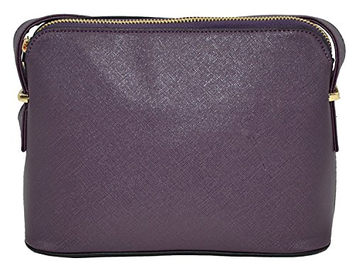 Agency Plum Textured Hatched Avenue Crossbody Structured HandBag Cross zrqz8n0g