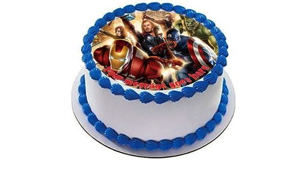 Decoración comestible para tarta con diseño de Los ...