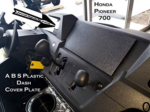 J & O Carts Parts Fits Honda Pioneer 700 Blank ABS Plastic Cover Plate for Mounting Stereo or Gauges ()