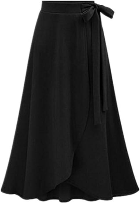 e059ccc82fdf9e Tayaho Jupe Longue Femme Jupe Parapluie Fendue Jupe avec ...