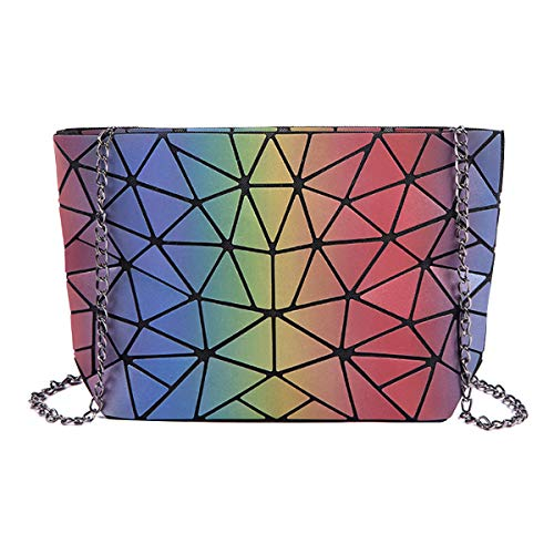 Bag Laser Womens Holographic Purse Handbag Fashion Clutch Leather Iridescence Shoulder Meliya Envelope 4wxaYtqgY