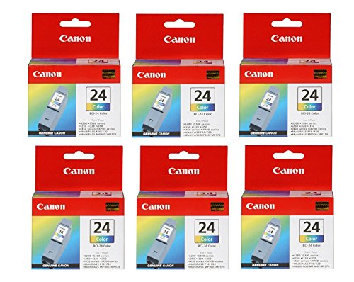 Genuine Canon BCI-24 Color InkJet Tank Cartridge (6-Pack)