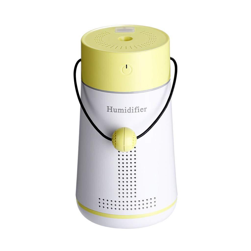 Mamun Humidificador Creativo 3 en 1 humidificador LED humidificador difusor de Ventilador de Aire purificador atomizador (Rosado)