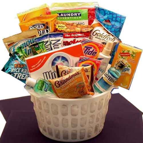 Amazon Away From Home Snacks And Essentials Care Package In Mini Laundry Gift Basket Gourmet Hors Doeuvres Gifts Grocery Food
