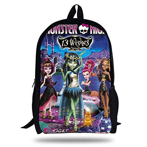 Amazon.com: Fashion Children School Bags for Girls Gifts Monster High Cartoon Teenagers Bag Backpack Students Bookbag Hot Kids: Kitchen & Dining