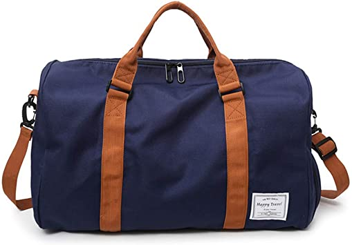 Travel Duffle Bags Weekender Overnight Travel Bag Handbags Tote Bags with Shoe Compartment for Men and Women Yugefom Canvas Holdall Bags