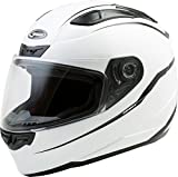 GMAX FF-88 Adult Precept Full-Face Motorcycle Helmet - White/Black/X-Large