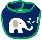 Izzy and Owie Elephant Bib, 1, Blue/Green