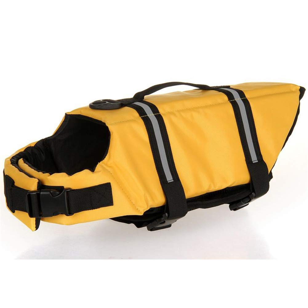 Kuntrona Pet Dog Life Jacket Safety Clothes for Pet Life Vest Summer Clothes Saver Swimming Preserver Swimwear Large Dog Life Jacket 27S2 Yellow XXL by Kuntrona