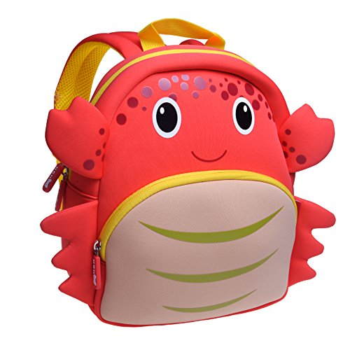 Crabs Animals (OFUN Zoo Toddler Kids Backpack, Animal Backpacks for Kids, Crab Toddler Backpack)