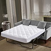 """Everest Premium Mattress Pad Hypoallergenic Single Needle Stitch Quilted Mattress Topper Deep Pocket Stretch to Fit Anchor Bands Microfiber Washable Medium wt 15 oz per sq yd (FULL SOFA PAD-54x72+12"""")"""