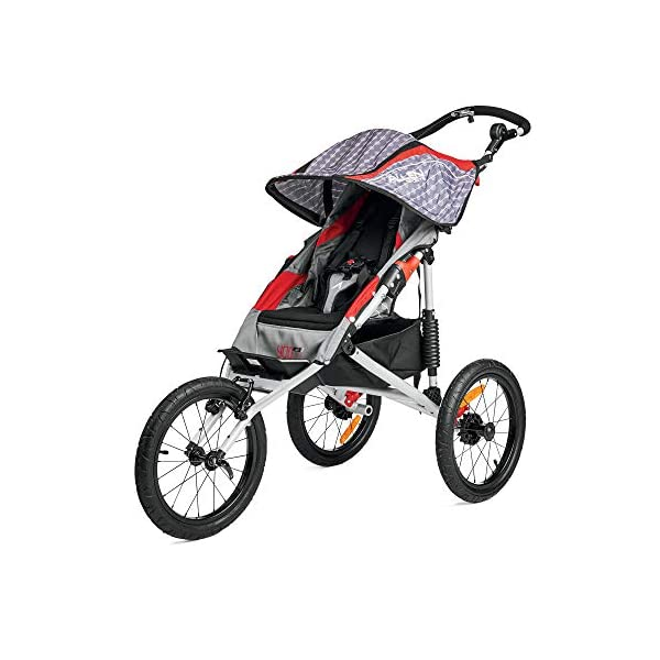 Allen Sports J1 Premier Aluminum 1 Child Jogger Red