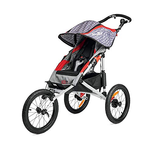 Allen Sports Premier Aluminum 1-Child Jogger, Red