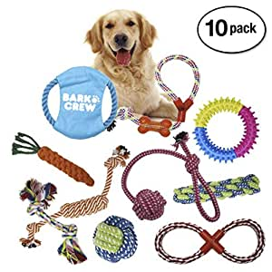 Pet Supplies : BARKCREW Dog Rope Toys 10 Pack Set Pet